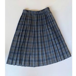 Vintage 50's/60's Plaid Pleated Skirt